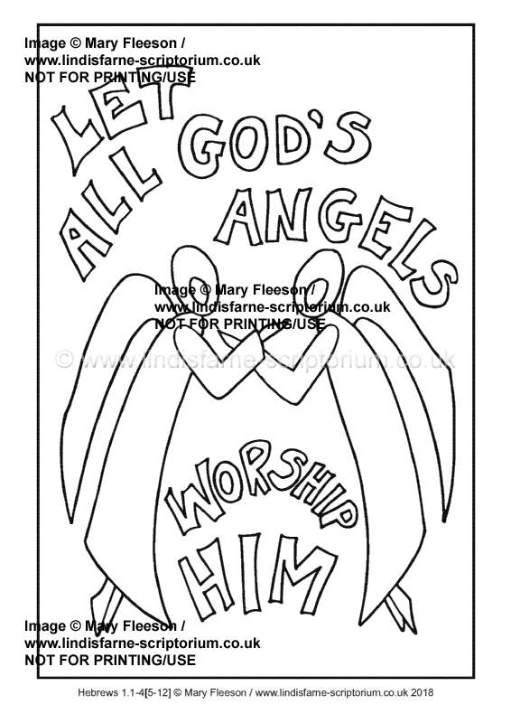 35 - Christmas Day - Hebrews 1 1-4[5-12] - Downloadable / Printable  Colouring Sheet